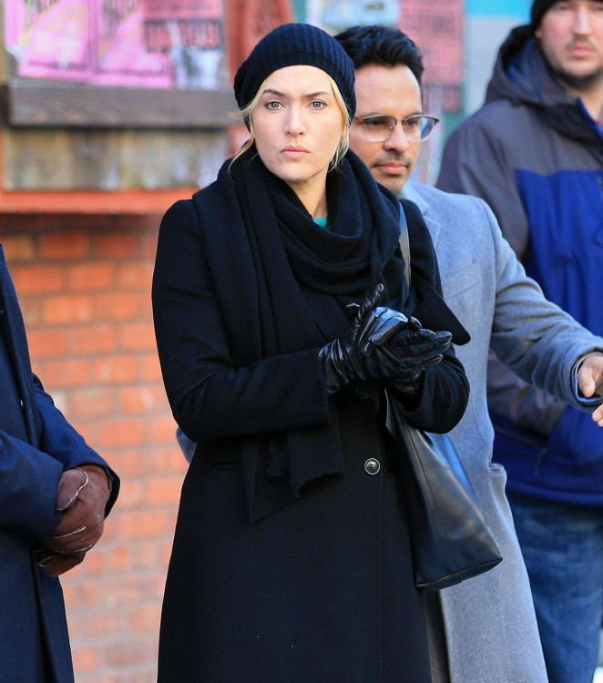 Kate Winslet - Filming 'Collateral Beauty' in New York