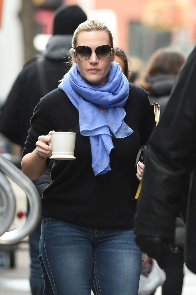Kate Winslet - Filming 'Collateral Beauty' in NYC