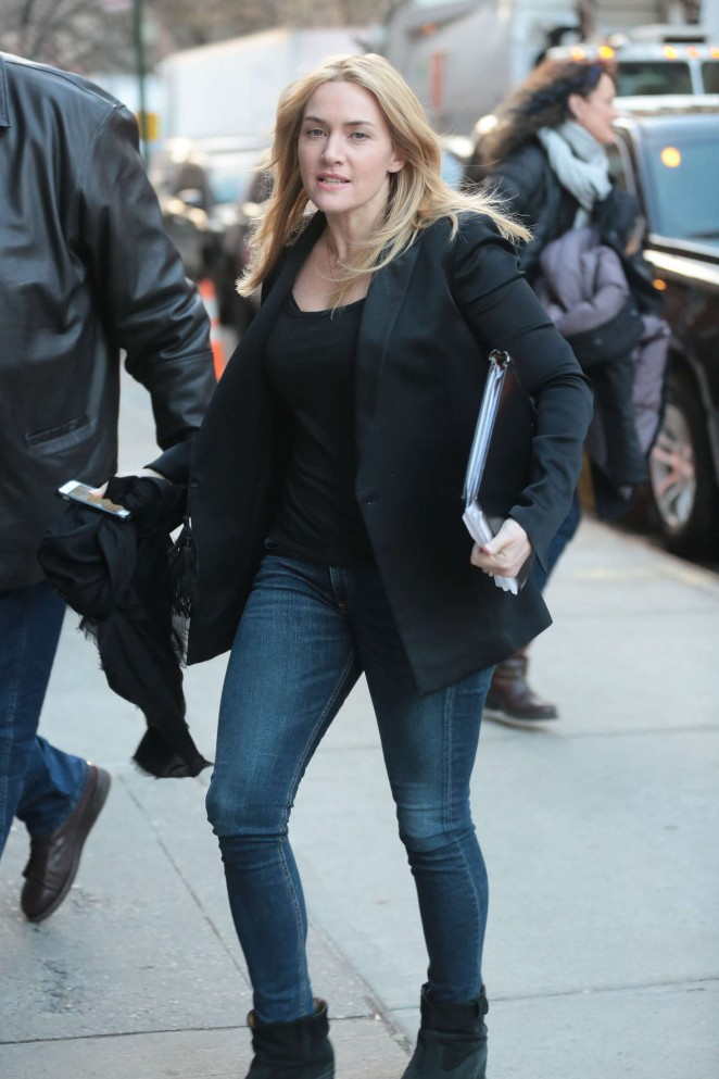 Kate Winslet in Jeans out in New York
