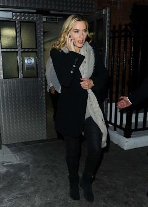 Kate Winslet - Leaving Claridges hotel in London
