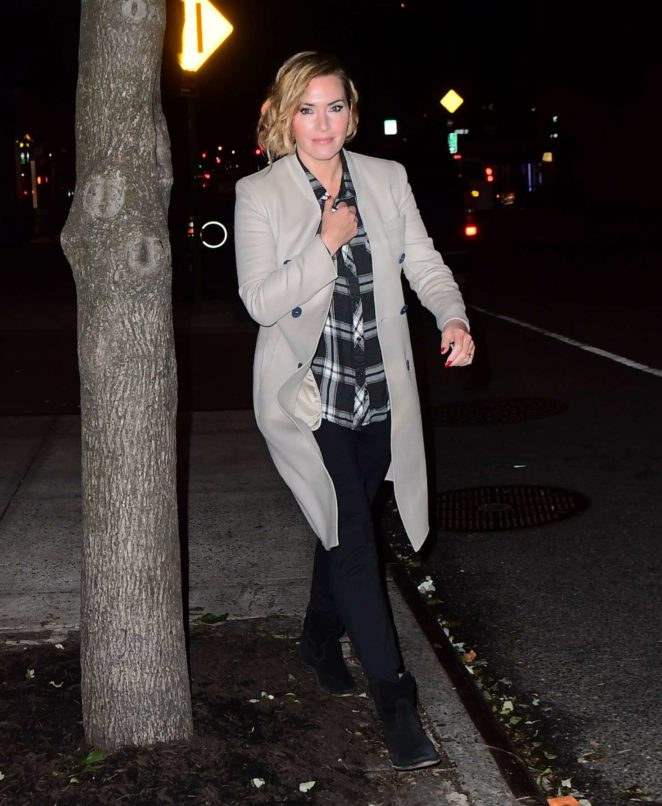 Kate Winslet - Leaving her Tribeca Hotel in NYC