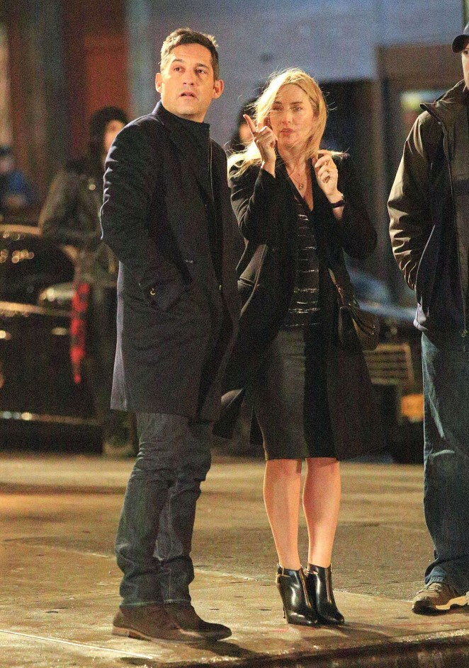 Kate Winslet on the set of 'Collateral Beauty' in New York City