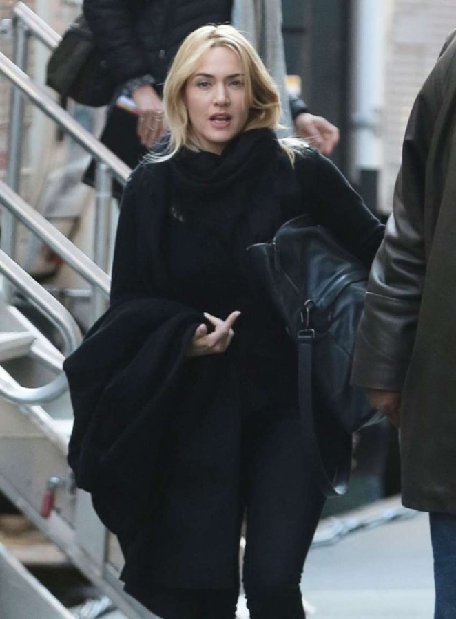 Kate Winslet on the set of 'Collateral Beauty' in NYC