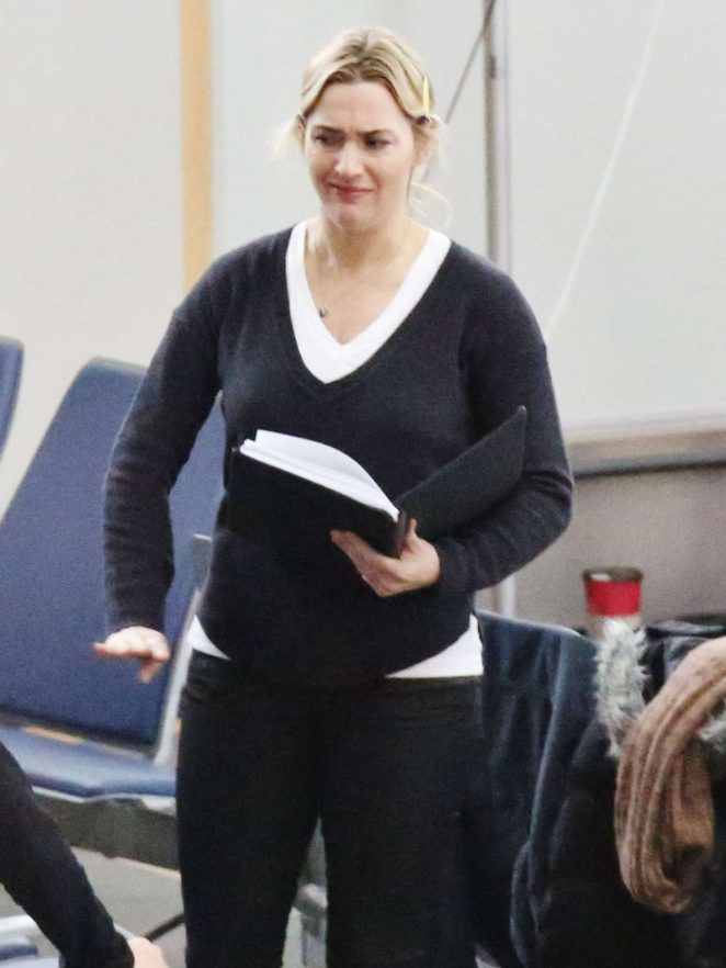 Kate Winslet on the set of 'The Mountain Between Us' in Vancouver
