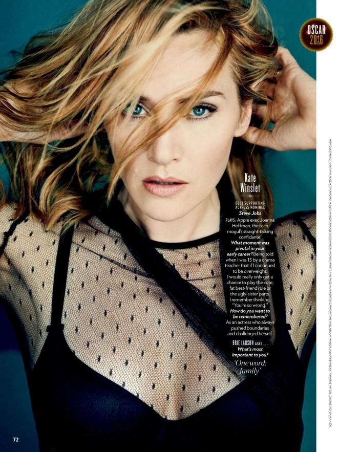 Kate Winslet – People Magazine (February 2016)