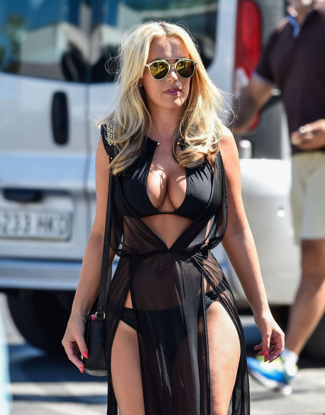 Kate Wright - Filming TOWIE in Marbella