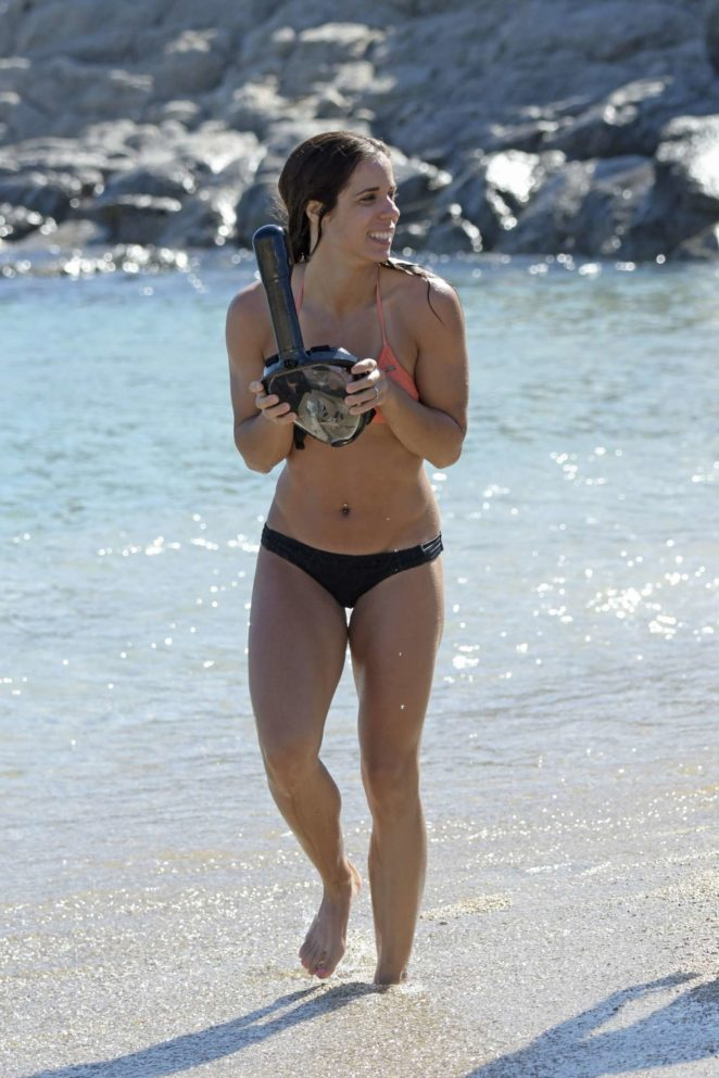 Katerina Stefanidi - Bikini on the beach in Mykonos