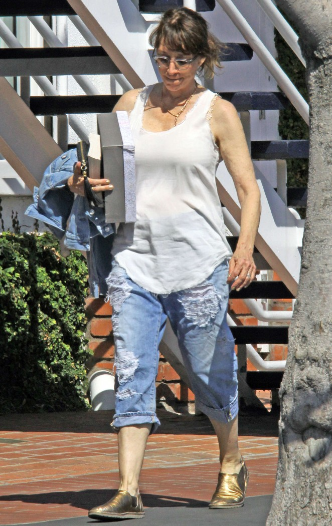 Katey Sagal in Ripped Jeans out in LA