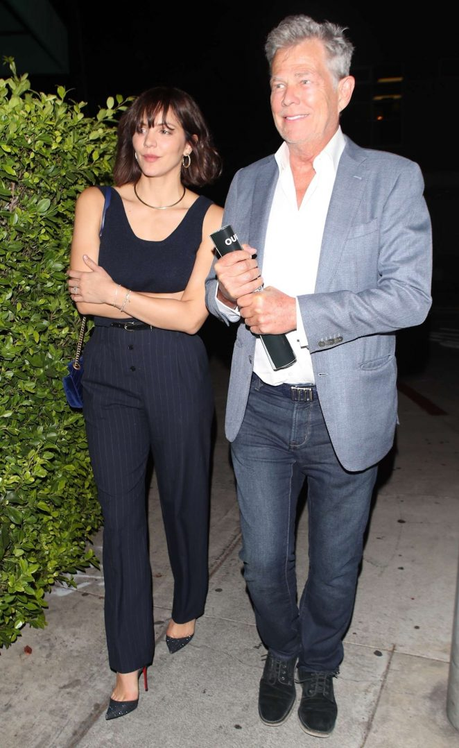 Katharine McPhee and David Foster - Arriving to the Simon Cowell Party in LA
