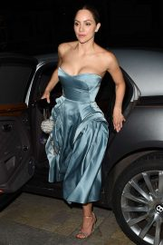 Katharine McPhee and David Foster - Leaving their wedding reception in Mayfair