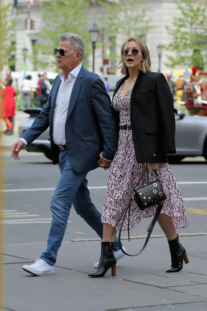 Katharine McPhee and David Foster out in New York City