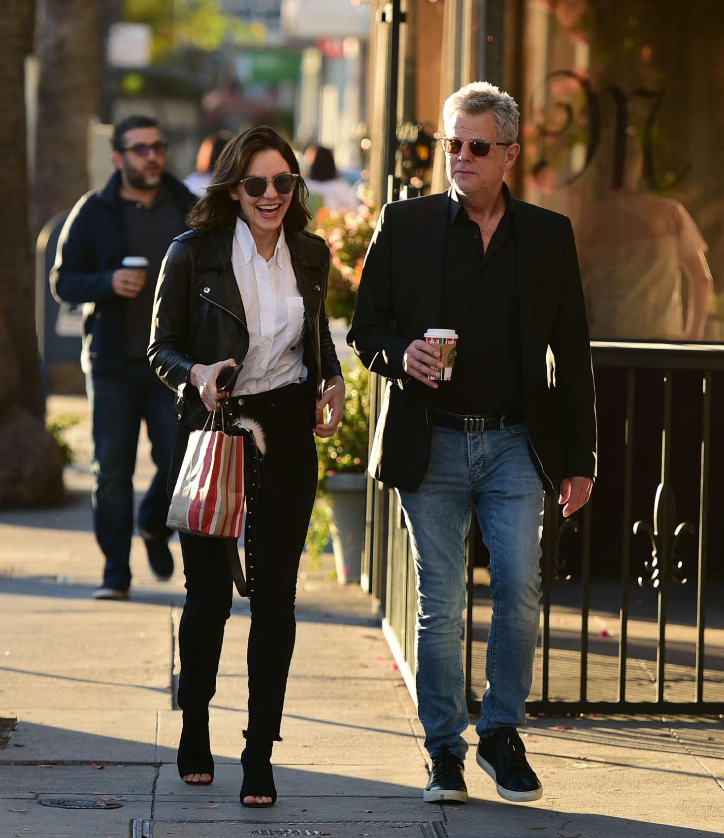 Katharine McPhee 2018 : Katharine McPhee and David Foster: Shopping in Los Angeles -02