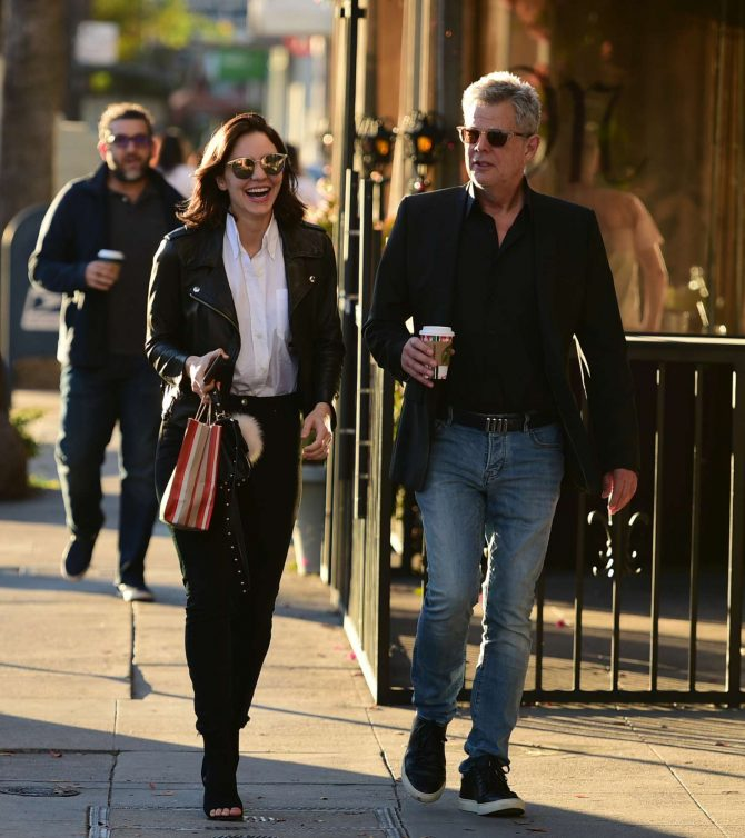 Katharine McPhee and David Foster – Shopping in Los Angeles