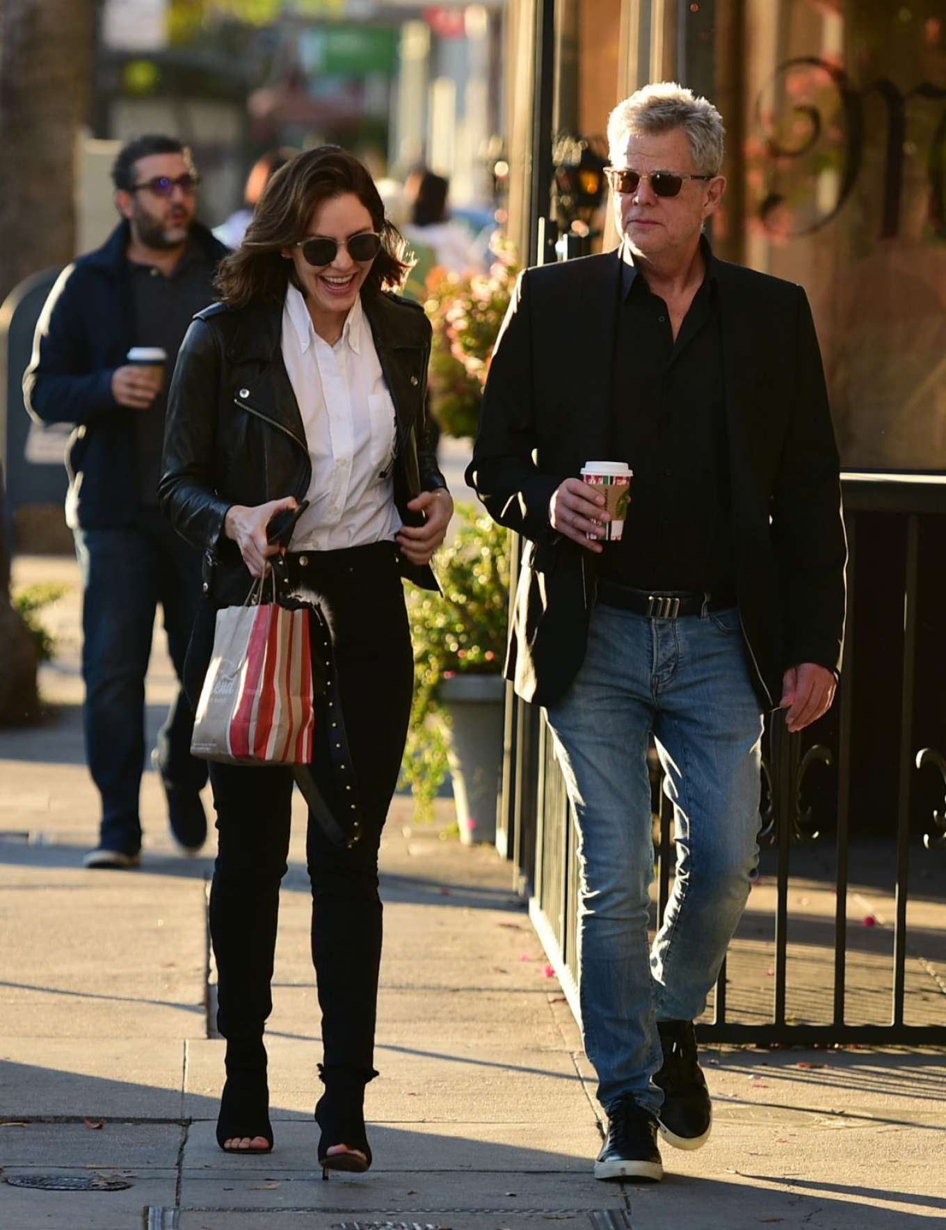 Katharine Mcphee and David Foster - Shopping in Los Angeles