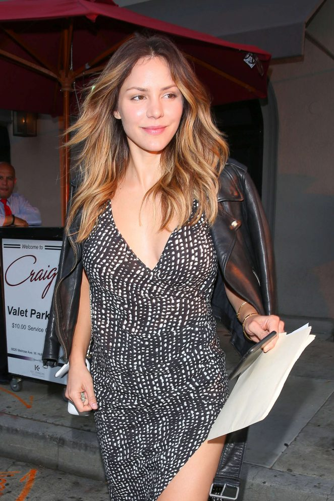 Katharine McPhee at Craig's Restaurant in West Hollywood