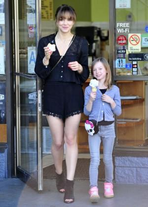 Katharine McPhee in Black Shorts -09