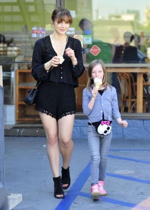 Katharine McPhee in Black Shorts -10
