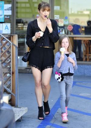 Katharine McPhee in Black Shorts -16