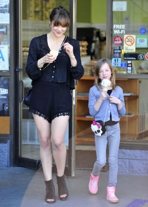 Katharine McPhee in Black Shorts -21