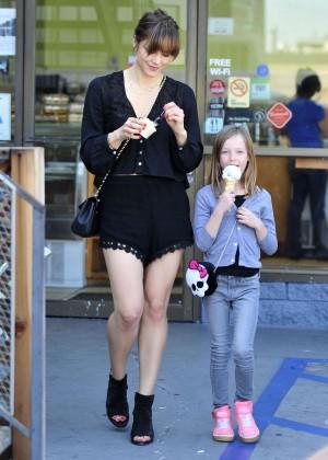 Katharine McPhee in Black Shorts -25