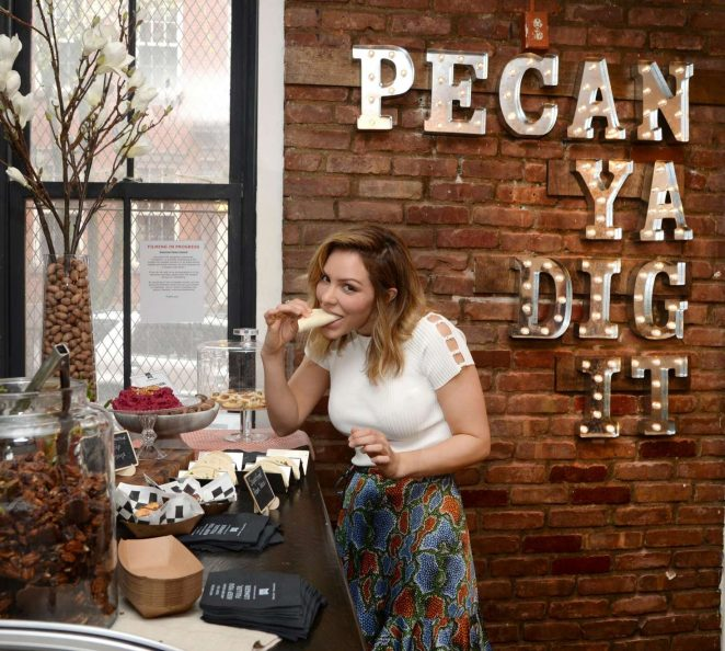 Katharine McPhee at the American Pecans Not Pie Shop in NYC