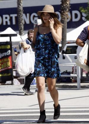 Katharine McPhee in Blue Mini Dress -03