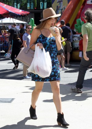 Katharine McPhee in Blue Mini Dress -05