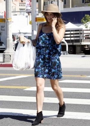 Katharine McPhee in Blue Mini Dress -06