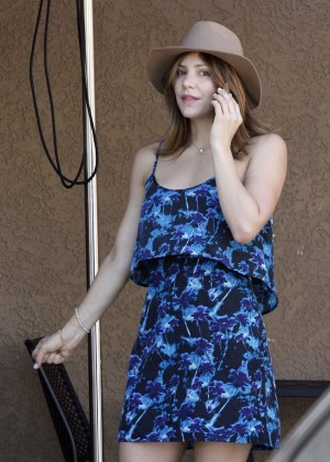 Katharine McPhee in Blue Mini Dress -20