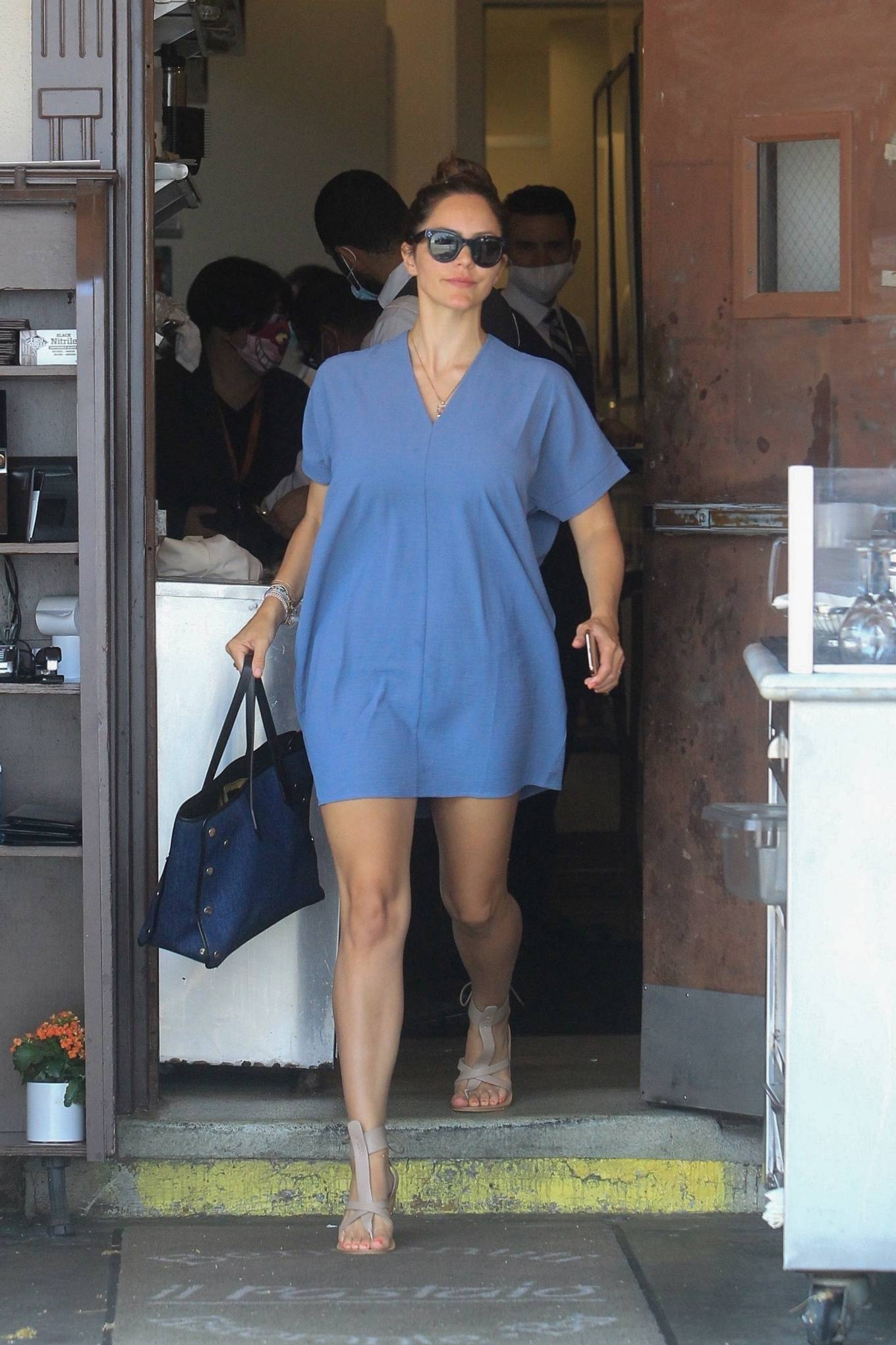 Katharine McPhee 2021 : Katharine McPhee – Have lunch at Il Pastaio in Beverly Hills-03