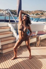 Katharine McPhee in Beige Bikini in Mykonos