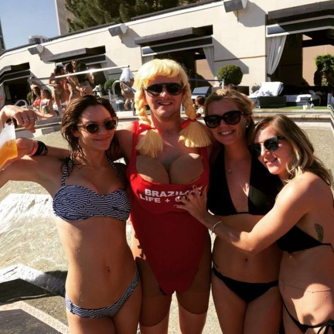 Katharine McPhee in Bikini in Las Vegas
