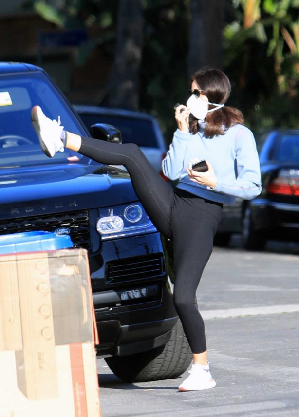 Katharine McPhee in Black Tights - Out in Los Angeles