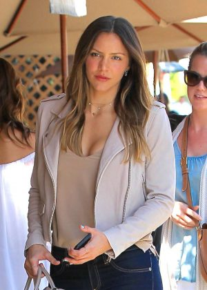 Katharine McPhee in Jeans at II Pastaio restaurant in Beverly Hills