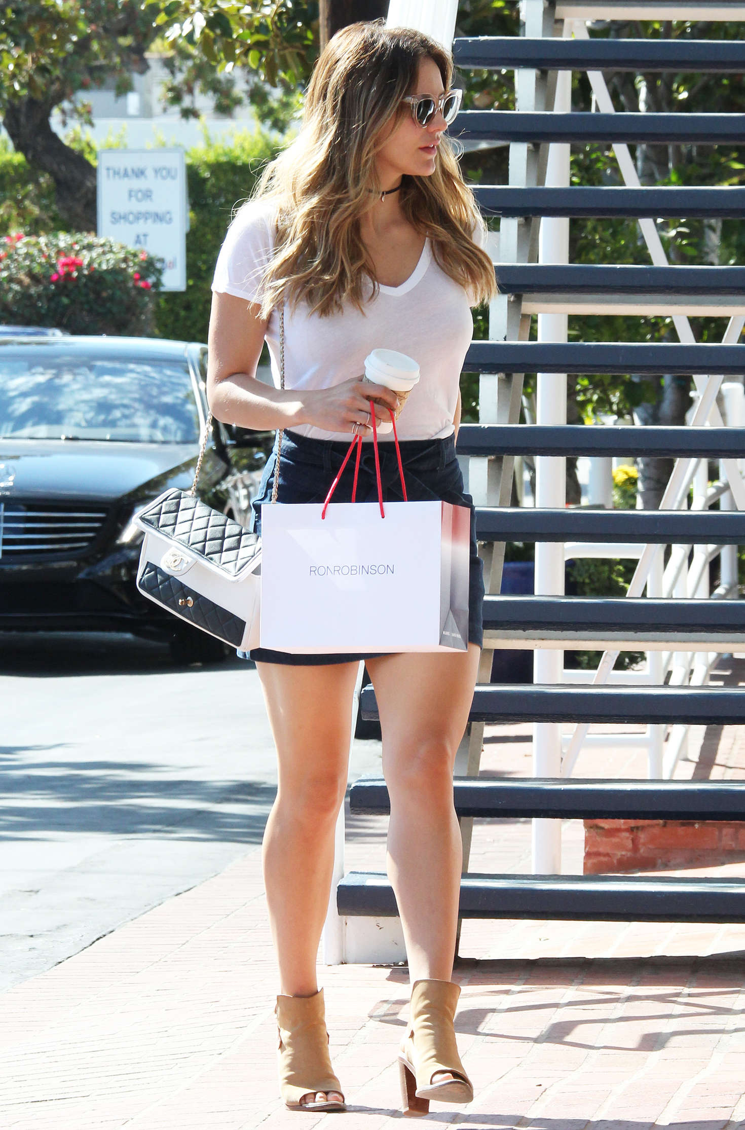 Katharine McPhee in Jeans Mini Skirt Shopping -03 - GotCeleb