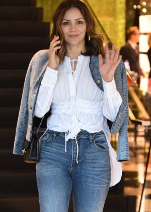 Katharine McPhee in Jeans - Shopping at Prada on Rodeo Drive in Beverly Hills