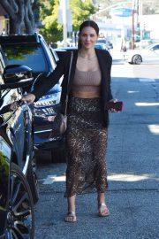 Katharine McPhee in Leopard Print Skirt - Leaves the hair salon in West Hollywood