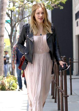 Katharine McPhee in Pink Dress Out in Los Angeles