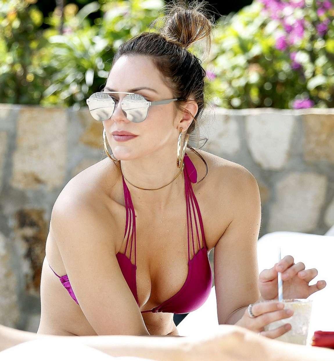 Lindsay lohan purple bikini