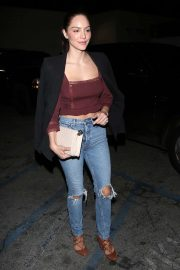 Katharine McPhee in Ripped Jeans - Leaving Craig's in West Hollywood