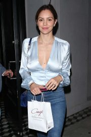 Katharine McPhee - Leaves Craig's Restaurant in West Hollywood