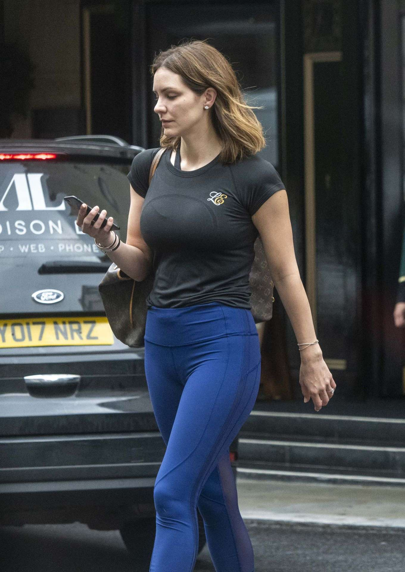 Katharine McPhee - Leaves The Dorchester Hotel in London