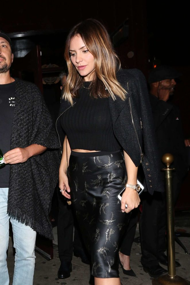 Katharine McPhee Leaves the Peppermint club in West Hollywood