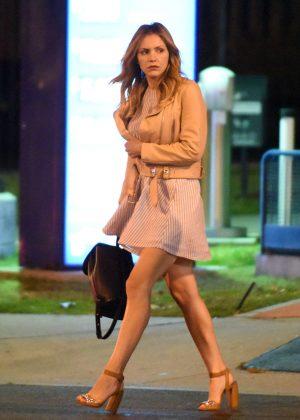 Katharine McPhee - Leaving a restaurant in West Hollywood
