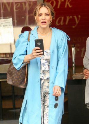 Katharine McPhee - Leaving an office building in New York