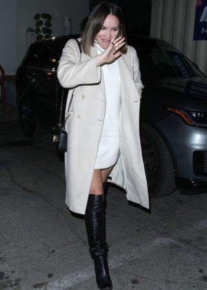 Katharine McPhee - Leaving Craig's in West Hollywood