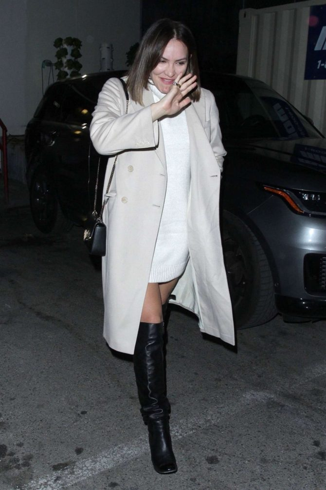 Katharine McPhee – Leaving Craig's in West Hollywood
