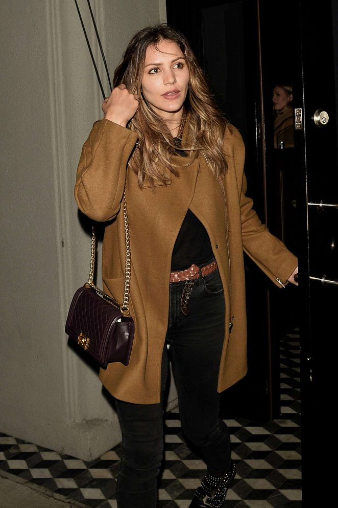 Katharine McPhee – Leaving 'Craigs' Restaurant in West Hollywood