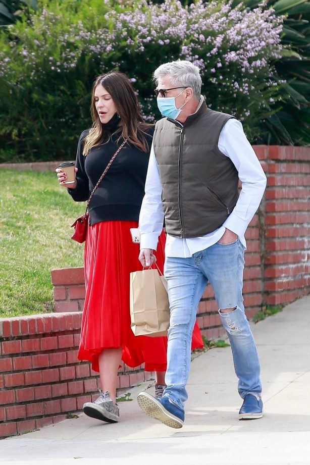 Katharine McPhee - Lunch with their family on Valentine's day in Los Angeles