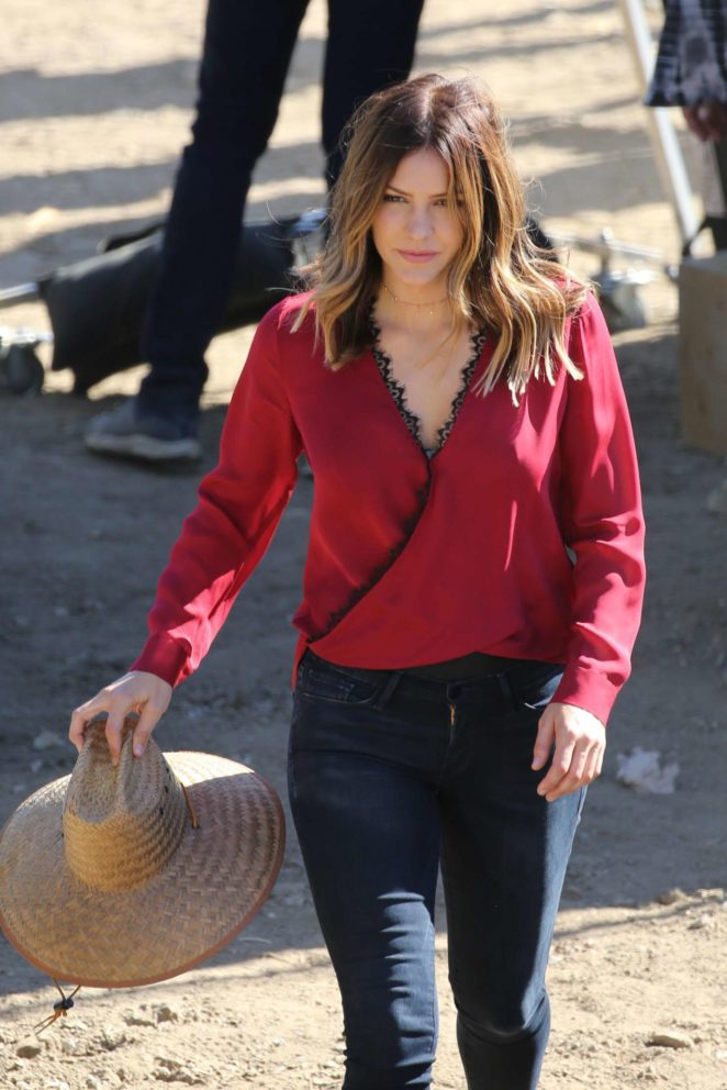 Katharine McPhee - On the set of 'Scorpion' in Los Angeles